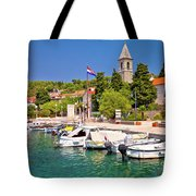Prvic Luka Island Village Waterfront View Tote Bag