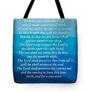 Psalm 121 Tote Bag