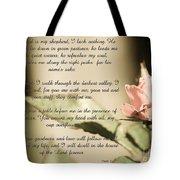 Psalm 23 Tote Bag