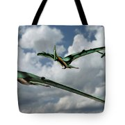 Pterodactyls In Flight Tote Bag