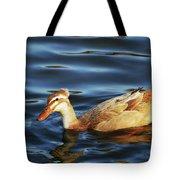 Puffy Headed Duck Tote Bag