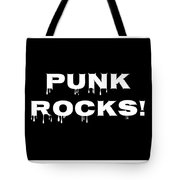 Punk Rocks - Black On White Background  Tote Bag