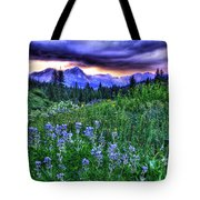 Purple Skies And Wildflowers Tote Bag