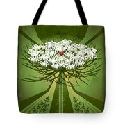 Queen Anne's Lace Print Tote Bag