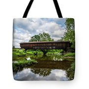 Quiet Serenity Of A Ohio Backcountry Covered Bridege Tote Bag