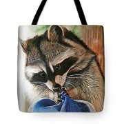 Raccoon Cap Tote Bag