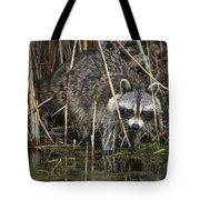Raccoon Fishing Tote Bag