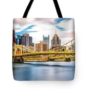 Rachel Carson Bridge Tote Bag by Mihai Andritoiu