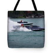 Racing Hydroplanes Boats On The Detroit River For Gold Cup Tote Bag