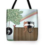 Rainbow Bridge Cats Tote Bag