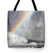 Rainbow Over Skogarfoss Waterfall Tote Bag