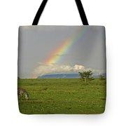 Rainbow Over The Masai Mara Tote Bag
