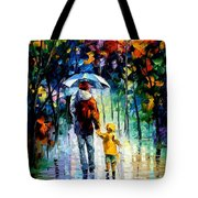 Rainy Walk With Daddy Tote Bag