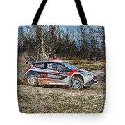 Rally Car Tote Bag