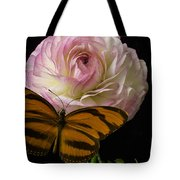 Ranunculus And Butterfly Tote Bag