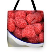 Raspberries In Polish Pottery Bowl Tote Bag
