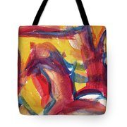 Red Abstract Painting Tote Bag