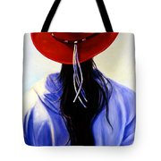 Red Ahead Tote Bag