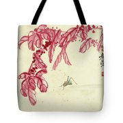 Red Autumnal Leaves Insect Tote Bag