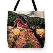 Red Barn Road Tote Bag