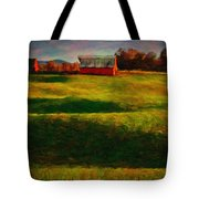 Rolling Hills And Red Barn, Rock Island, Tennessee Tote Bag