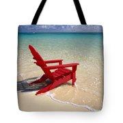 Red Beach Chair Tote Bag