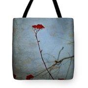 Red Berries Blue Sky Tote Bag
