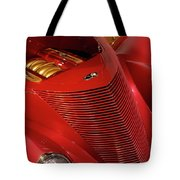 Red Classic Car Details Tote Bag