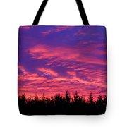 Red Clouds At Dawn Tote Bag
