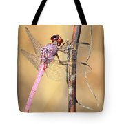 Red Dragonfly Portrait Tote Bag