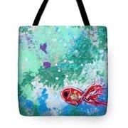 1 Red Fish Tote Bag