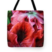 Red Floral Tote Bag