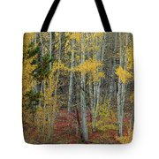 Red Forest Floor Tote Bag