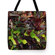 Red Green  Leaves Tote Bag