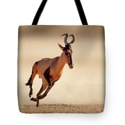 Red Hartebeest Running Tote Bag