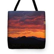 Red Hot Desert Skies  Tote Bag