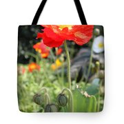 Red Iceland Poppy Tote Bag