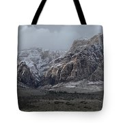 Red Rock Canyon Snow Storm Tote Bag