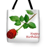 Red Rose Happy Birthday  Tote Bag