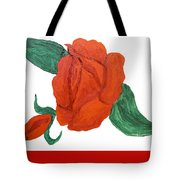 Red Rose, Oil Painting Tote Bag