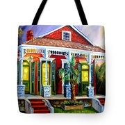 Red Shotgun House Tote Bag