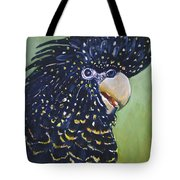 Red Tailed Black Cockatoo  Tote Bag