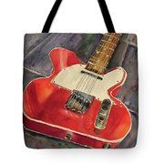 Red Telecaster Tote Bag