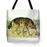 Red Texan Wolf Tote Bag