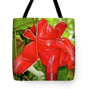 Red Tropical Flower In Huntington Botanical Gardens In San Marino-california Tote Bag