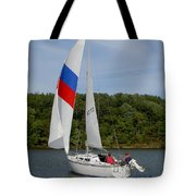 Red White And Blue Sails Tote Bag