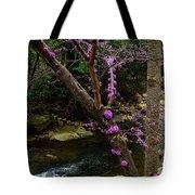 Redbud And River Tote Bag