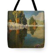 Reflective Lake Tote Bag