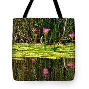 Reflective Wild Water Lilies Tote Bag