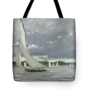 Regatta At Argenteuil Tote Bag by Claude Monet